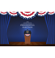 Presidential election banner background vector image