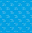 retro recorder pattern seamless blue vector image