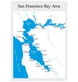 san francisco bay area map vector image vector image