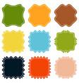 set template sunburst shapes badges vector image vector image