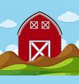 simple rural farm house vector image