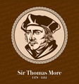 sir thomas more was an english lawyer vector image
