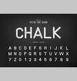 sketch font and alphabet chalk typeface letter vector image