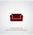 sofa icon simple vector image vector image