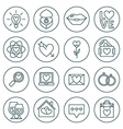 St Valentines day line icon set Love wedding or vector image