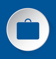 suitcase simple blue icon on white button vector image