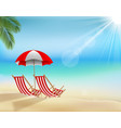 summer beach holiday background vector image vector image