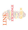 the death of the link exchange text background vector image vector image