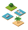 top view an island vector image