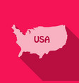 usa map in flat style with shadow vector image vector image