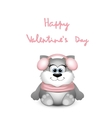 Valentines day card with funny cat vector image vector image