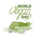 vegan lettering sign vector image vector image
