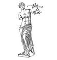 venus de milo sculpture drawn in engraving vector image vector image