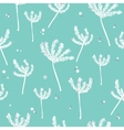 White and blue background with abstract plants vector image vector image
