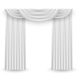White curtains on a white background vector image vector image