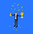 winner business success concept 3d isometric view vector image vector image