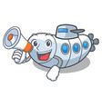 with megaphone miniature submarine in the vector image vector image