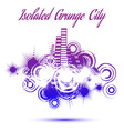 Isolated grunge city vector image