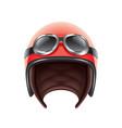 retro aviator helmet isolated vector image