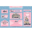 set of banners business cards postcards vector image