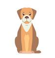 cute beagle dog cartoon flat icon vector image