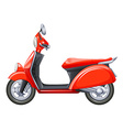 A red scooter vector image vector image