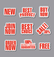 advertising text stickers vector image vector image