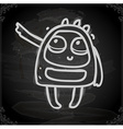 Alien Drawing on Chalk Board vector image vector image