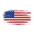 american flag brush grunge background vector image vector image
