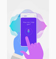 augmented reality personal voice assistant mobile vector image vector image