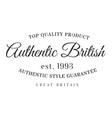 Authentic british product stamp vector image vector image