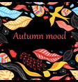 autumn bright colorful background vector image