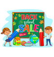 back to school sale with school board and cute vector image