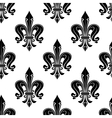 Black french fleur-de-lis seamless pattern vector image vector image
