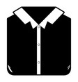black sections silhouette of man shirt folded vector image vector image
