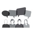 black speech bubbles vector image vector image