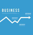 business infographic arrow chart design vector image vector image
