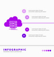 cloud storage computing data flow infographics vector image