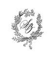 design element of wedding vector image vector image