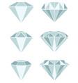 different diamond vector image vector image