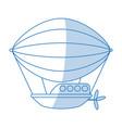 dirigible icon design vector image vector image