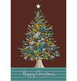 Diversity Christmas Tree hands vector image vector image