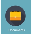 Documents Flat Concept Icon vector image vector image