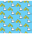 Ducks seamless pattern vector image vector image