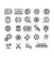 engineering icon set vector image vector image