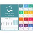 english calendar 2018 vector image vector image