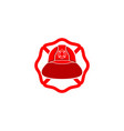 firefighter helmet logo vector image vector image