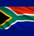 flag south africa 3d wavy background vector image