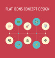 flat icons cash financing support and other vector image vector image