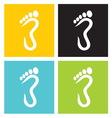 Foot symbol vector image vector image